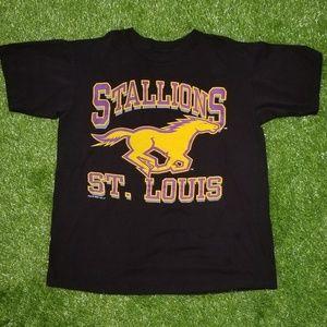 Vintage St Louis Stallions Promo Tee